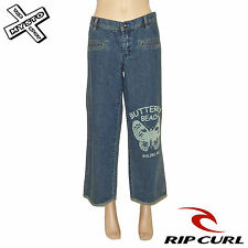 Rip Curl ' LUCIDO Denim duky ' donna pantaloni jeans indaco UK 8 12 BNWT