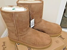 Kirkland Signature Ladies Short Shearling Boots in Chestnut OR brown 4 size BNWT