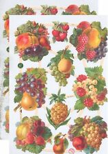 Cromo EF Recortes Frutas 7375 En relieve Illustartions Fruto