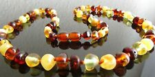 45 CM GENUINE BALTIC AMBER ADULT NECKLACE  COLOURS  MIXED