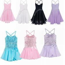 Kids Girls GYM Gymnastics Leotards Sleeveless Ballet Dance Unitards Dancewear