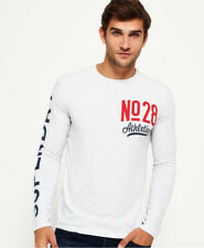 Superdry T-shirt manches longues Athletics No28 Pour homme Ice Marne