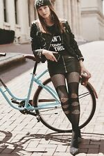 Punk Rock Black Pantyhose Stockings Tights Tattoo Gothic For Women