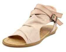 Blowfish NEW Balla blush pink canvas open toe flat sandalsshoes size UK 3-8