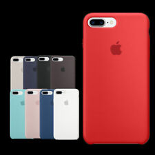Genuina Original ultra fino funda de silicona para Apple iPhone 8 7 6 6s Plus