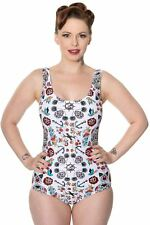 Banned Apparel Call It Simple Vintage Retro 50s Sailor Anchor One Piece Swimsuit