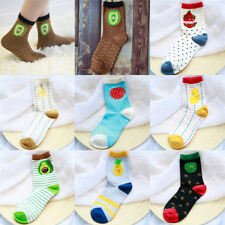 Cartoon Fruit Sock Cotton Funny Art Socks Watermelon Kiwi Pear Pineapple RT