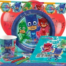 UK PJ MASKS Birthday Party Tableware Boys & Girls Plates Cups Napkins Tablecover