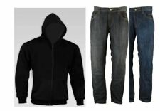 RKSports Motorcycle Motorbike Kevlar Lined Black Hoodie and Protective Jeans