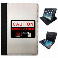 Caution Señal Angry para GAMERS DIVERTIDA LOL abatible FUNDA CARCASA TABLET
