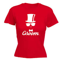 Womens Funny T Shirt Groow Bowtie Glasses Hat Wedding Stag Do Birthday T-SHIRT