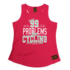 99 Cycling Solves All Of Them Cycling funny BirthdayWOMENS GIRLIE TRAINING VEST