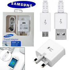 100% Genuine Samsung Galaxy S6 S7 Edge Plus Fast Charger Plug Micro USB Cable UK