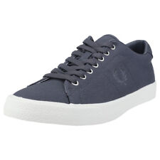 Fred Perry Underspin Mens Dark Grey Canvas Trainers