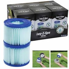 Bestway Lay-Z- Spa Hot Tub Pool Antimicrobial Filter Cartridge Twin Pack Size VI