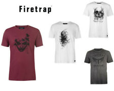 Mens Firetrap Graphic Stylish T-Shirt Top