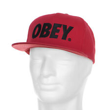 Obey Cappelli The City Snapback Smu Wahr Rot