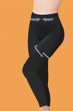 DONNE NERO NUDO STRETCH CONTROLLO MODELLANTI leggings taglie dalla s XXL / 8-