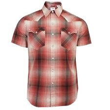 LEVIS BARSTOW WESTERN MENS TURNSTONE RED CHECK SHIRT