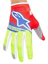 Guanti MX Alpinestars 2018 Radar Flight Rosso-Fluorescent-Blu
