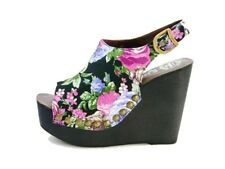 Jeffrey Campbell Snick scarpa con zeppa nero stampa floreale