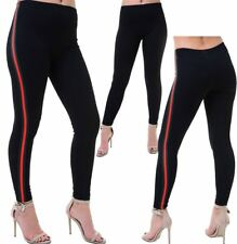 Womens Red And Green Stripe Legging Ladies Stretchy Sports Jogging Leggings