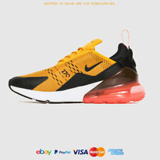 ALL SIZES NIKE AIR MAX 270 AH8050 004 BLACK / UNIVERSITY GOLD