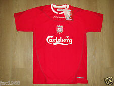 Liverpool 2002-2004 Reebok Maillot Football Domicile haut jersey rouge junior M