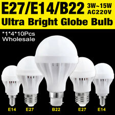 220V E27 B22 E14 Energy Saving LED Bulb Light 5/7/9/12W Warm White Lamp x1/4/10