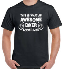 This Is What an Awesome Biker Looks Like Divertente da uomo MOTOCICLETTA T-Shirt