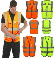 Adult High Visibility Waistcoat Mens Sports Work Wear Safety Reflective Vest