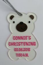PERSONALISED BABY PLAQUE BOY OR GIRL CHRISTENING GIFT OR NEWBORN HANDMADE PLAQUE