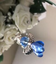 Angel Charm, Guardian Angel, Something Blue, Bride Gift, Good Luck Charm