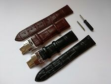 Real leather strap for Omega,Tissot,Citizen,Seiko,Longines,Rolex 21mm +tool pins