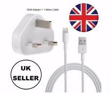 100% Genuine CE Charger Plug & USB Sync Cable for Apple iPhone 5 S 6 7 Plus 8 X