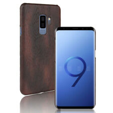 KSQ For Samsung Galaxy S9 S9 Plus Case Luxury Wood Grain Pattern PU leather