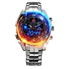 Military Sports Watches Analog LED Watch Stainless Steel Men Army Wristwatch