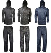 Adult Rainwear Waterproof Jacket And Trouser Set Unisex Sports Work Wear Dress