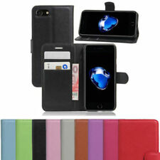 Real Genuine Leather Flip Wallet Slim Case Cover For Apple iPhone 5 SE 6 7 8Plus
