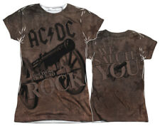 """AC/DC """"We Salute You"""" Dye Sublimated Junior Cap Sleeve - S - 2X"""