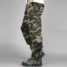 Men's Camouflage Cargo Pants Tactical Army Military Trousers Combat Baggy Multi