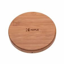 Fast Wireless Charger | Bamboo Wood Qi Wireless Charging Pad For Phones Tablets