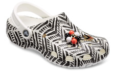 Younger Girls Drew Barrymore Classic Crocs Clogs in Black & White Chevron