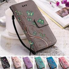 Butterfly Flower Flip Phone Case Soft Cover for iphone