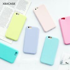 Silicone Frosted Matte Case for iPhone 7 6 6S 5 5S SE 8 Plus X Soft Back Cover