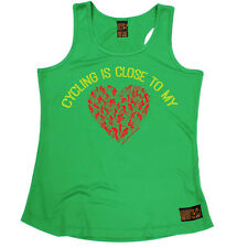 Cycling Is Close To My Heart Cycling funnyáBirthdayáWOMENS GIRLIE TRAINING VEST