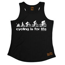 Cycling Is For Life Cycling funnyáBirthdayáWOMENS GIRLIE TRAINING VEST