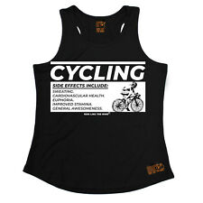 Cycling Side Effects Cycling funnyáBirthdayáWOMENS GIRLIE TRAINING VEST