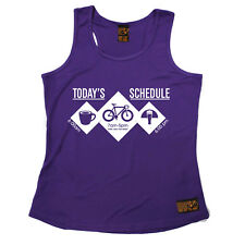 Todays Schedule Cycling Cycling funnyáBirthdayáWOMENS GIRLIE TRAINING VEST