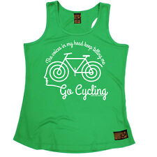 The Voices Go Cycling Cycling funnyáBirthdayáWOMENS GIRLIE TRAINING VEST
